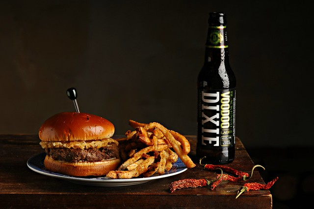 Delta Blues Burger and Lime Fries