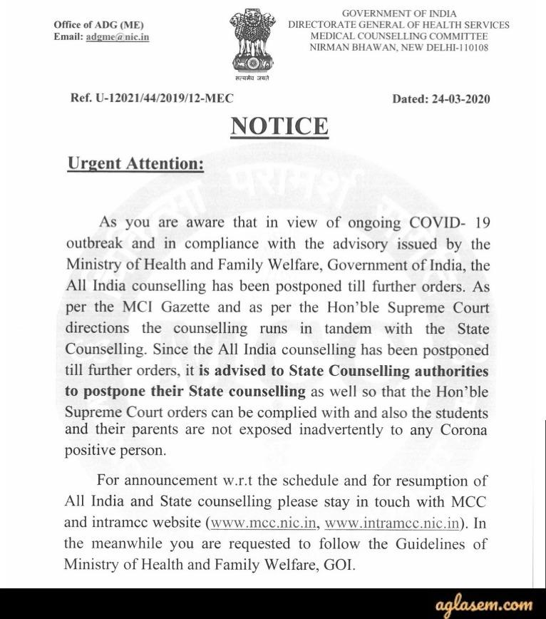 Latest News on Uttarakhand PG Medical / Dental Admission Through NEET PG 2020