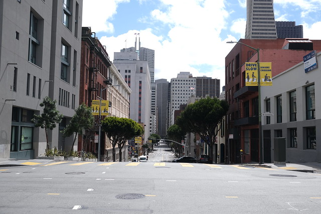 San Francisco streets during COVID-19 shelter in place