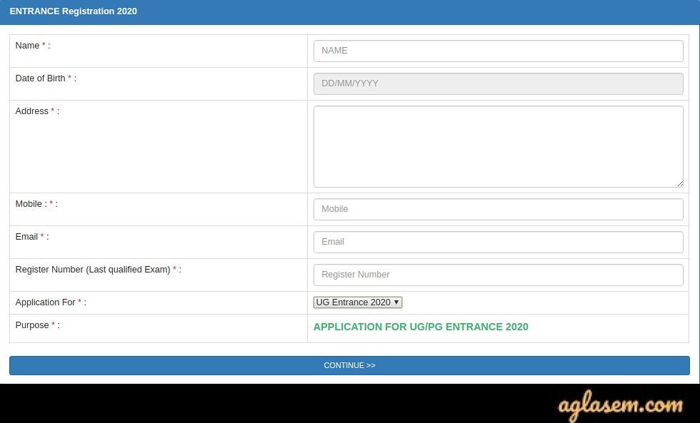 Calicut University Application Form 2020?