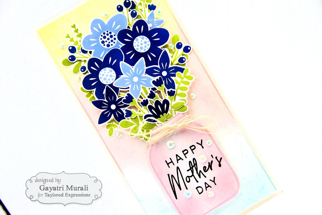 Gayatri - Bouquet Whimsy Card closeup1