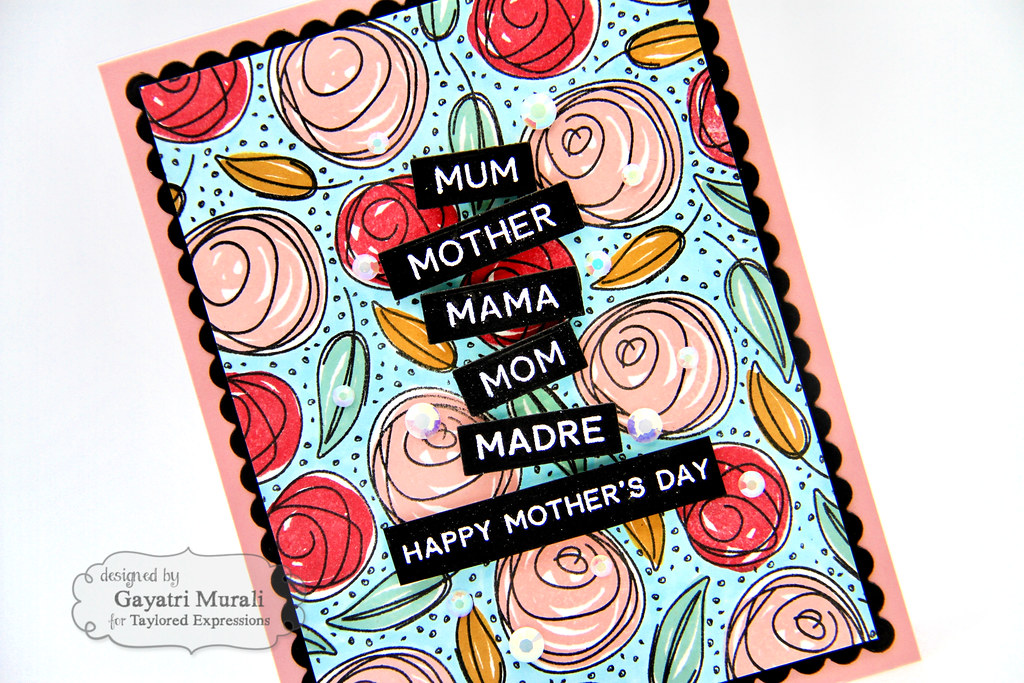 Gayatri Scribbled Rose card closeup1