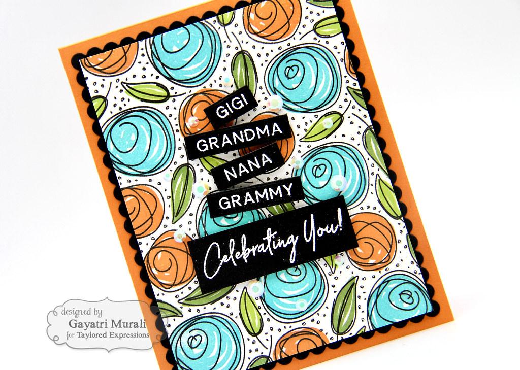 Gayatri Scribbled Rose card #2 closeup2