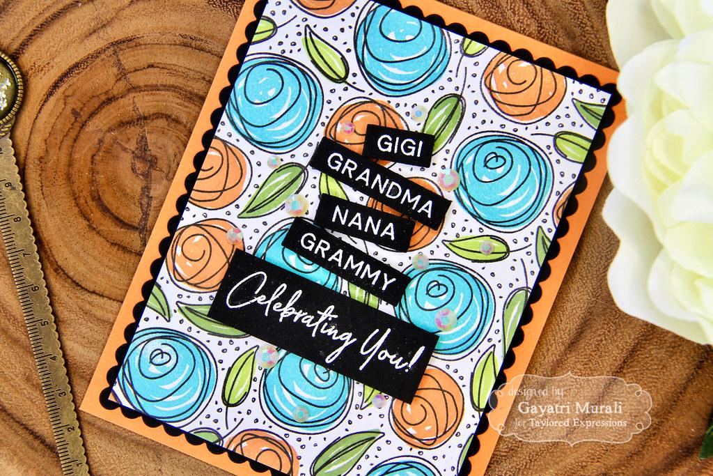 Gayatri Scribbled Rose card #2 closeup3
