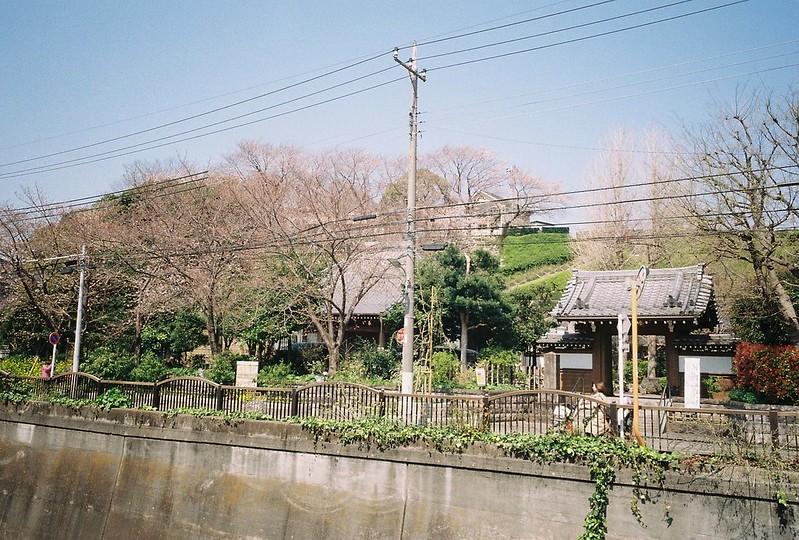 2−22GR1s+ColorPlus200東京いい道しぶい道池上道吞川の対岸の寺町