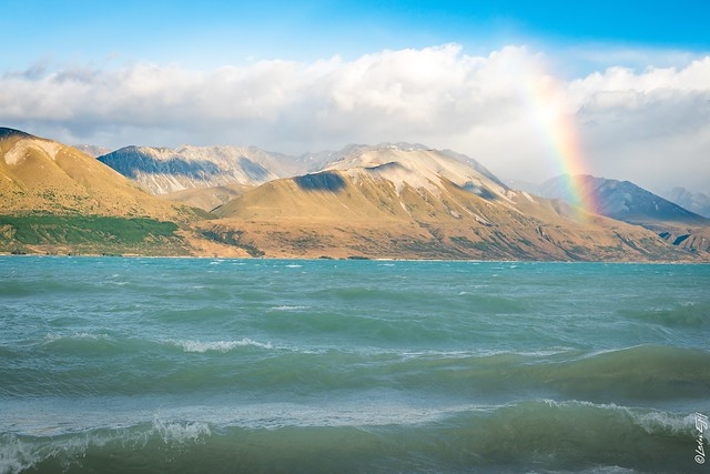 New Zealand / Rainbow at Lake Punakaki
