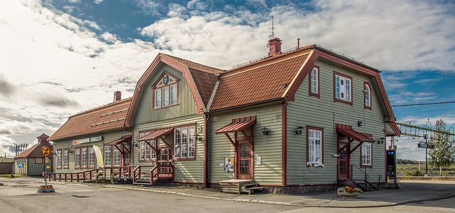 Old swedish train station (restored)