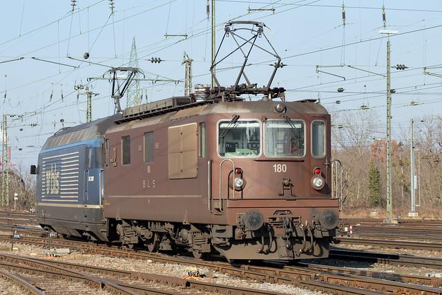 BLS Re 425 180 Basel Badischer Bahnhof