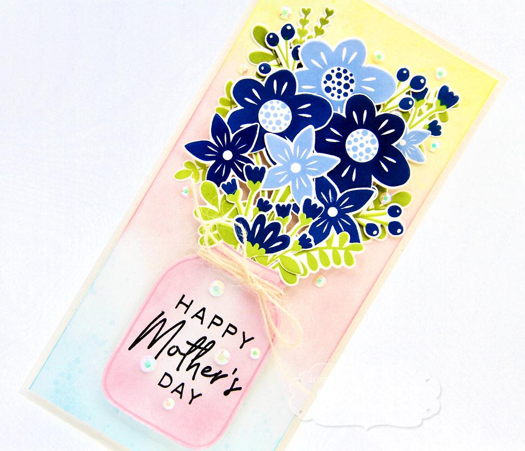Gayatri - Bouquet Whimsy Card closeup
