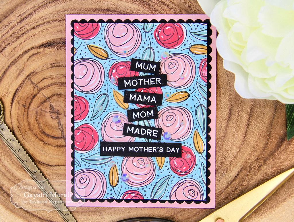 Gayatri Scribbled Rose card flat