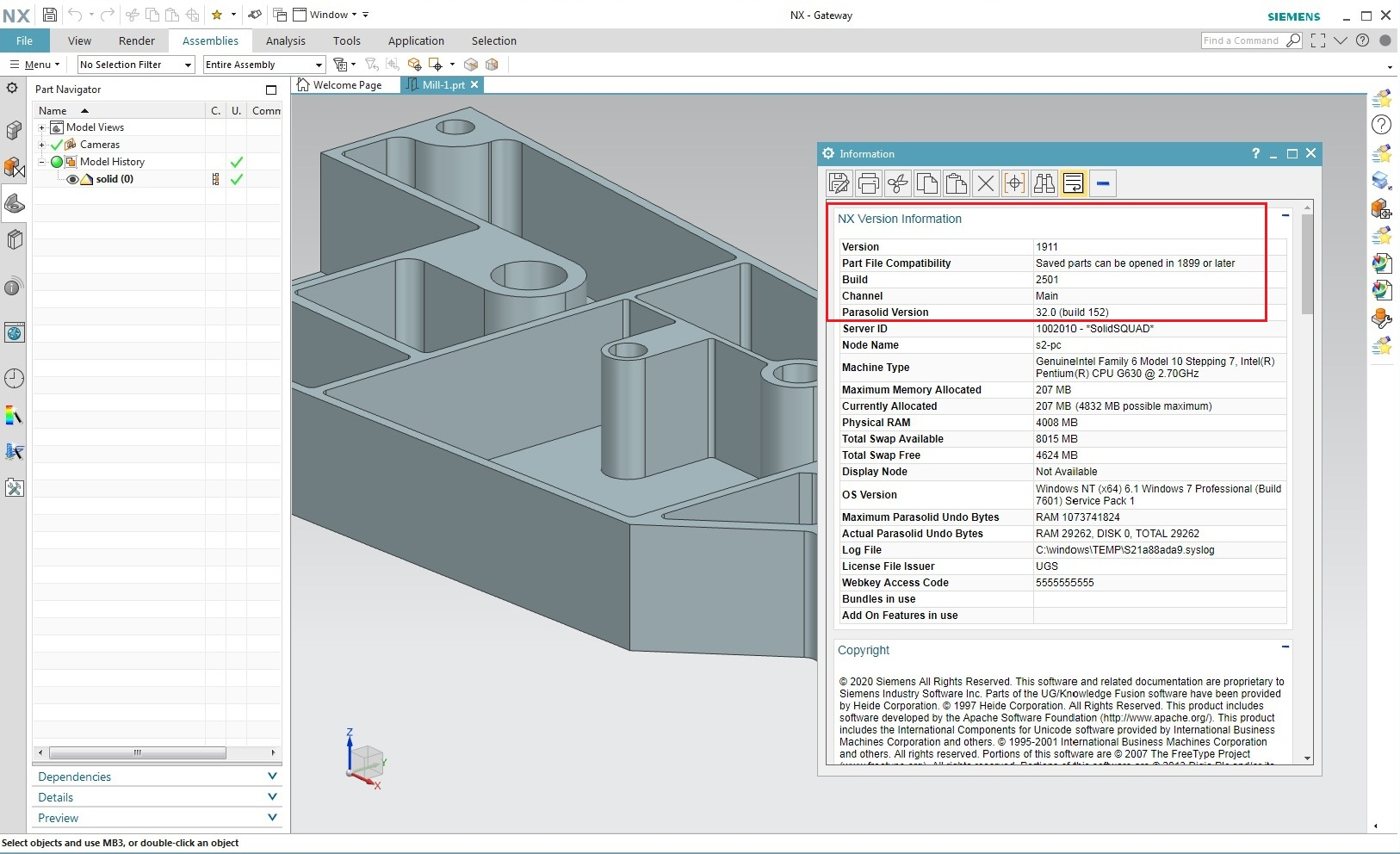 Working with Siemens NX 1911 Build 2501 full license