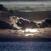 Beau Vallon :  le Soleil se couche sur l'océan Indien
