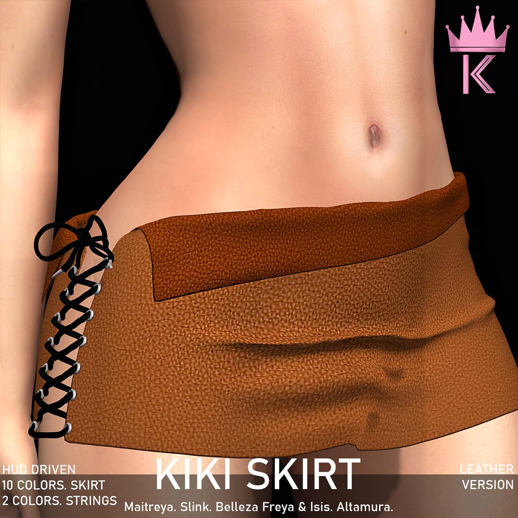 .KIMBRA. – KIKI SKIRT [LEATHER]
