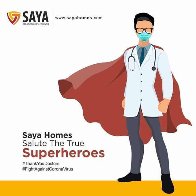 A big salute to all doctors, nurses, emergency responders and everyone who is working as a frontline soldier in this battle against #COVID19. Thank you all for your dedication and sacrifice! #ThankYouDoctors #FightAgainstCoronaVirus #IndiaFightsCorona #St