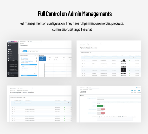 Full Control on Admin Managements