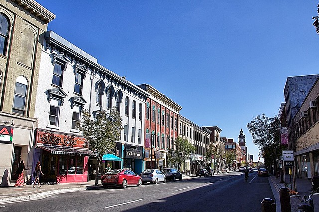 Peterborough Ontario - Canada  - Downtown Main Street  - Commercial Area - Heritage