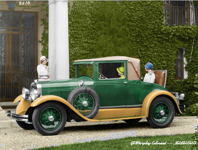 1928 Studebaker Dictator Cabrolet Colorized