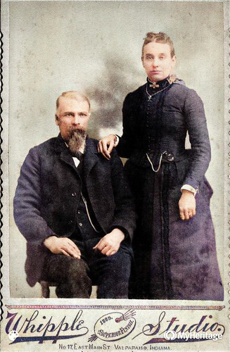 Sylvester & Mary Mereness Casbon 1889-Colorized