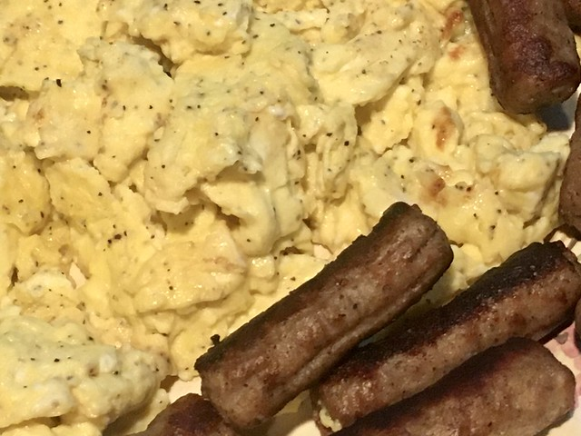 Everything is FOOD! - Scrambled Eggs and Sausages!