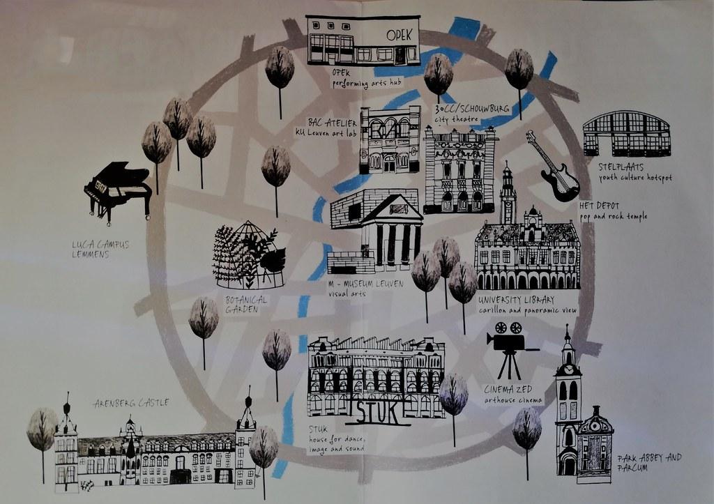mapa Lovaina
