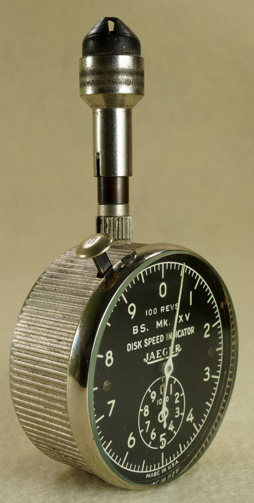 RD30065 Vintage WWII Era Jaeger Disk Speed Indicator BS. MK. XV US Air Force 4050-A DSC01684