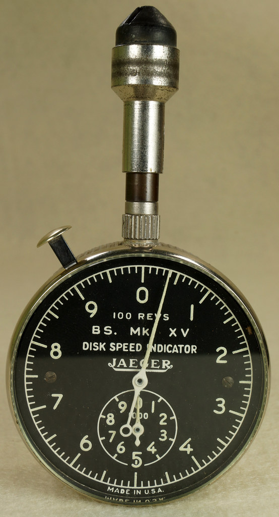 RD30065 Vintage WWII Era Jaeger Disk Speed Indicator BS. MK. XV US Air Force 4050-A DSC01679