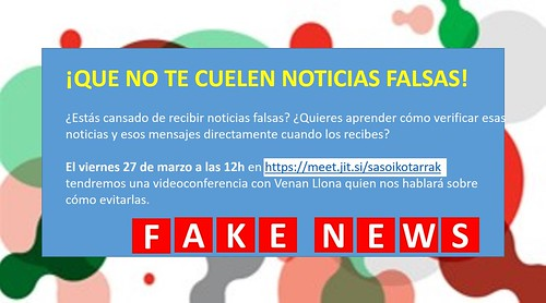¡Que no te cuelen noticias falsas!, curso virtual de BBKsasoiko