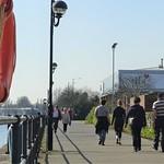 Groups walking at Preston Docks