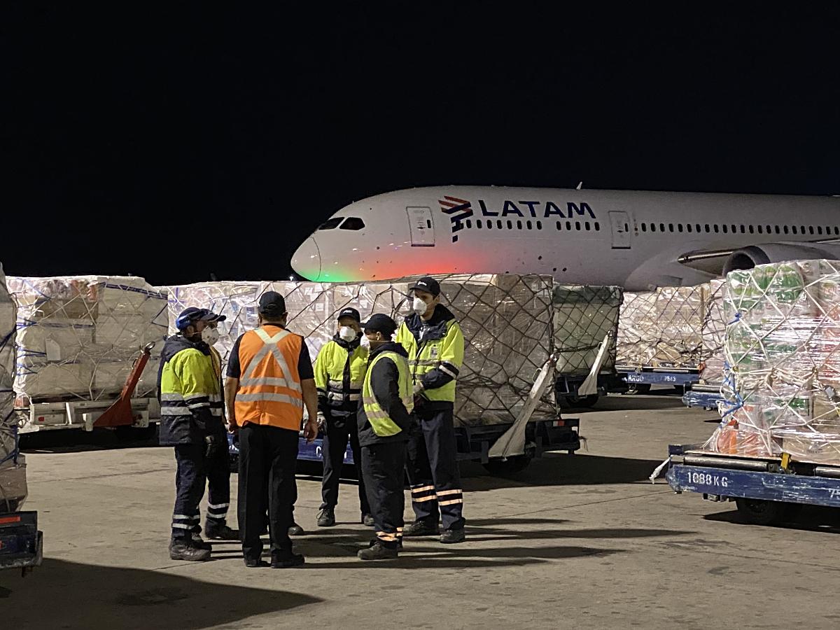 LATAM B787-9 carga Isla de Pascua viaje COVID-19 (LATAM)