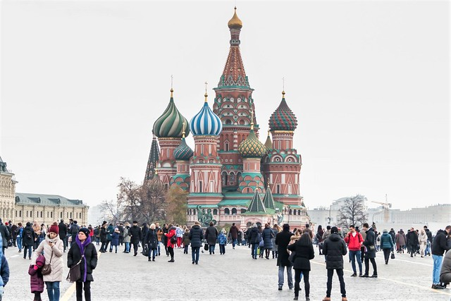 Moscow, St. Basil's Cathedral.