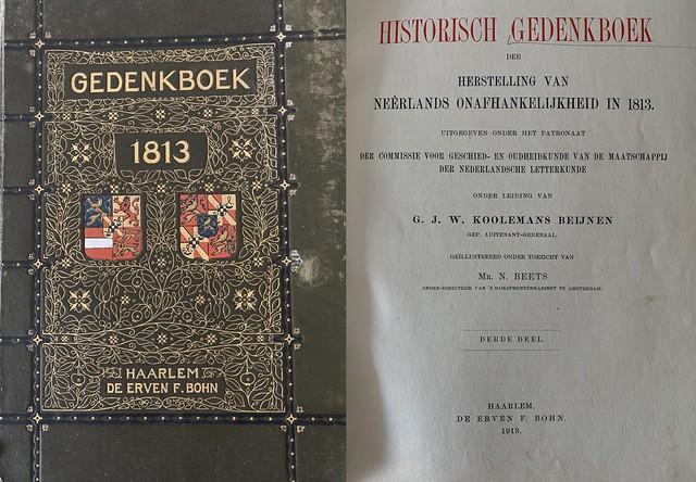 Historsch Gedenkboek der herstelling van Neerlands onafhankelijkheid in 1813
