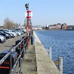 People parked up enjoying the sunshine at Preston Docks