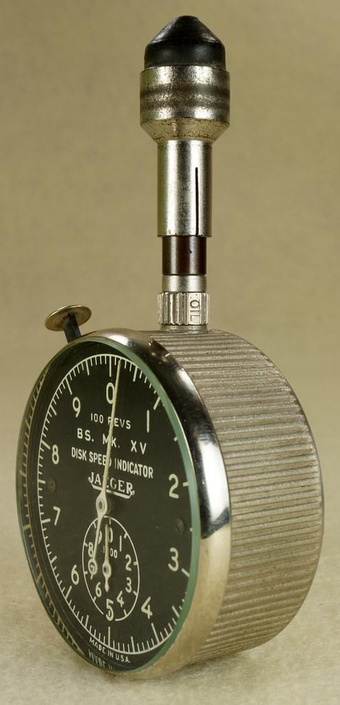 RD30065 Vintage WWII Era Jaeger Disk Speed Indicator BS. MK. XV US Air Force 4050-A DSC01680