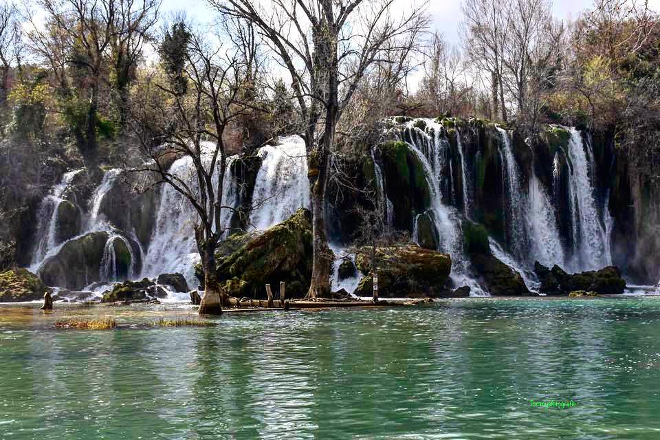 The Kravica Falls from the riverside  Photo taken in Bosniaandherzegovina