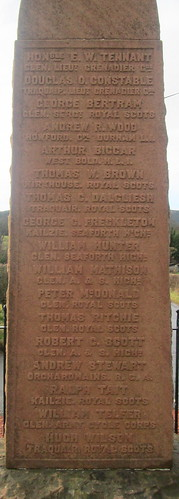 Great War Names, Traquair War Memorial