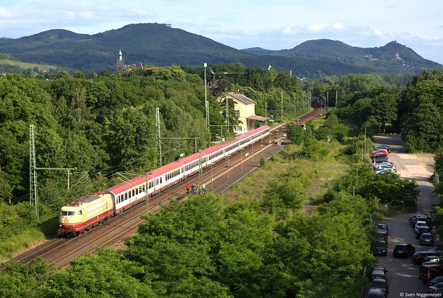 103 113-7 mit dem IC118 von Innsbruck nach Münster(Westf.) Hbf in Bonn-Oberkassel am 30.05.14