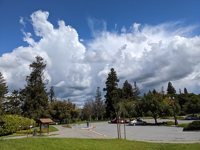 Clouds above the park