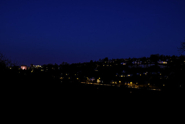 Blue hour covering Guildford