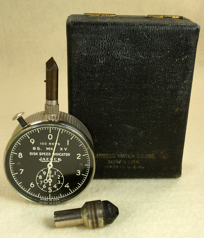 RD30065 Vintage WWII Era Jaeger Disk Speed Indicator BS. MK. XV US Air Force 4050-A DSC01688