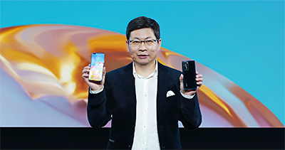 Richard Yu, CEO, Huawei Consumer Business Group, anchored the global launch which was live streamed online.