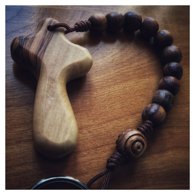 Olive-wood Tenner Rosary