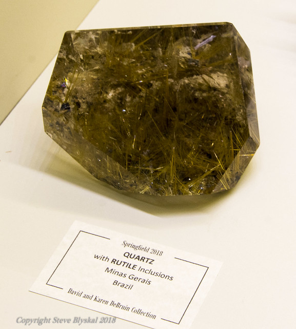 7225 Quartz w rutile inclusions Brazil - DeBruin Exhibit