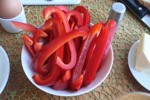 Aufgeschnittene Paprika