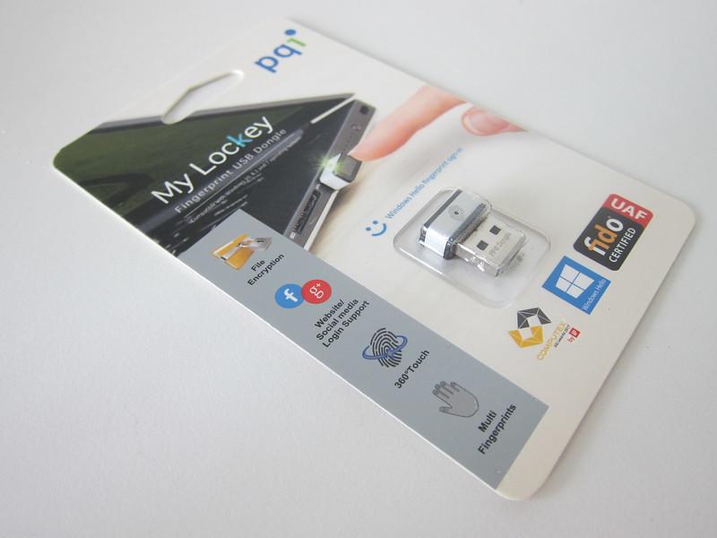 PQI My Lockey USB Fingerprint Reader - Packaging