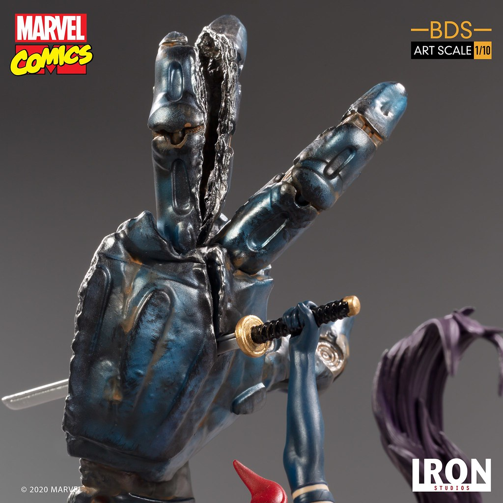 Iron Studios Battle Diorama 系列 Marvel Comics【靈蝶】Psylocke 1/10 比例全身雕像