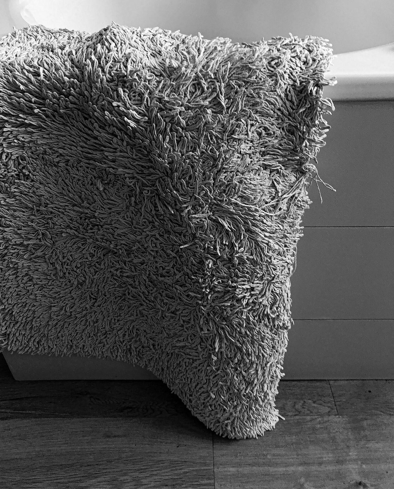 The bath mat at rest