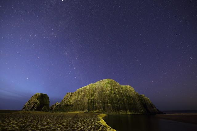 Tateiwa rock under the starlight