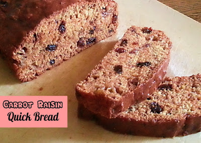 carrot raisin quick bread