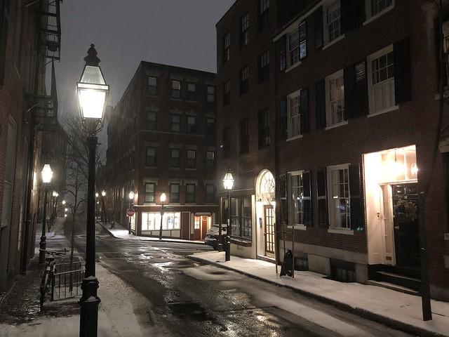 Winter night in the city