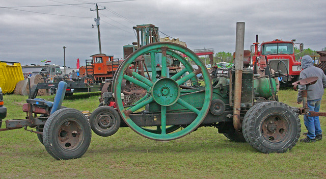 A Large, Flywheel Engine at the AntiqueTractor & Flywheel Engine Show, Fort Meade, Florida (1 of 2)